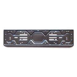 ART. 43PN Portatarga universale posteriore in acciaio nero